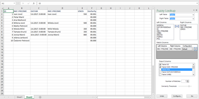 Fuzzy Lookup – Excel kitchenette