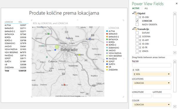 Mape U Power View Izvestajima Excel Kuhinjica