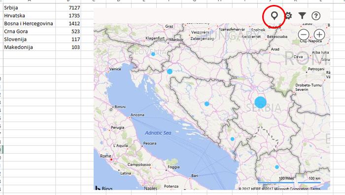Bing Maps Excel Kitchenette
